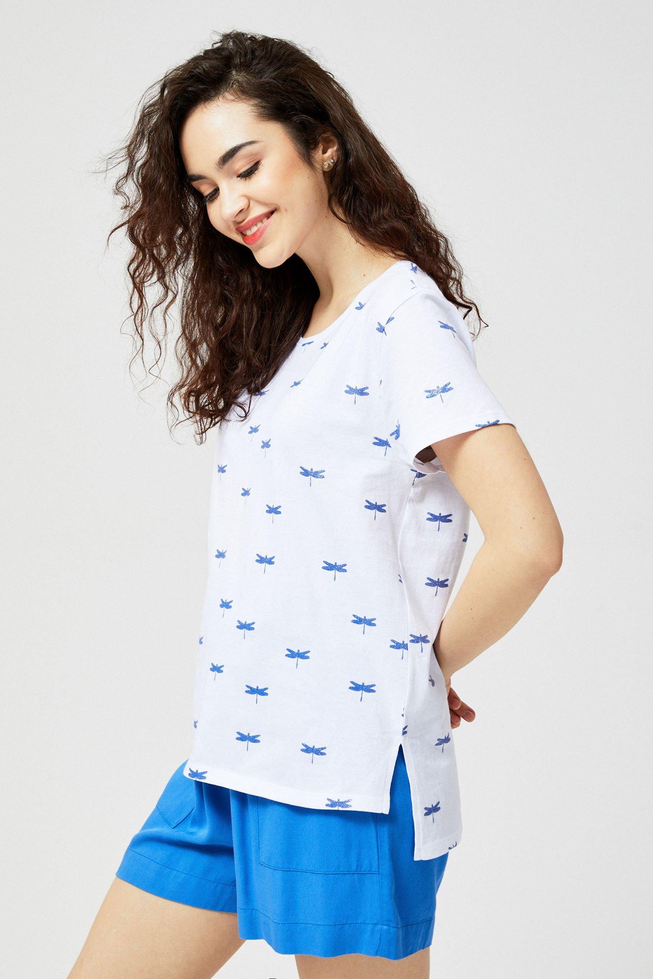 Bluzka bawełniana z nadrukiem