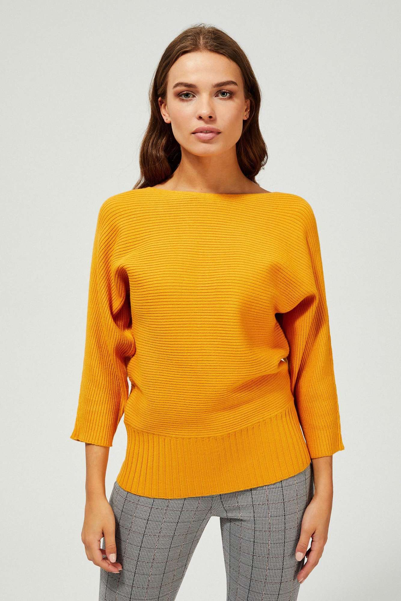 Prążkowany sweter oversize