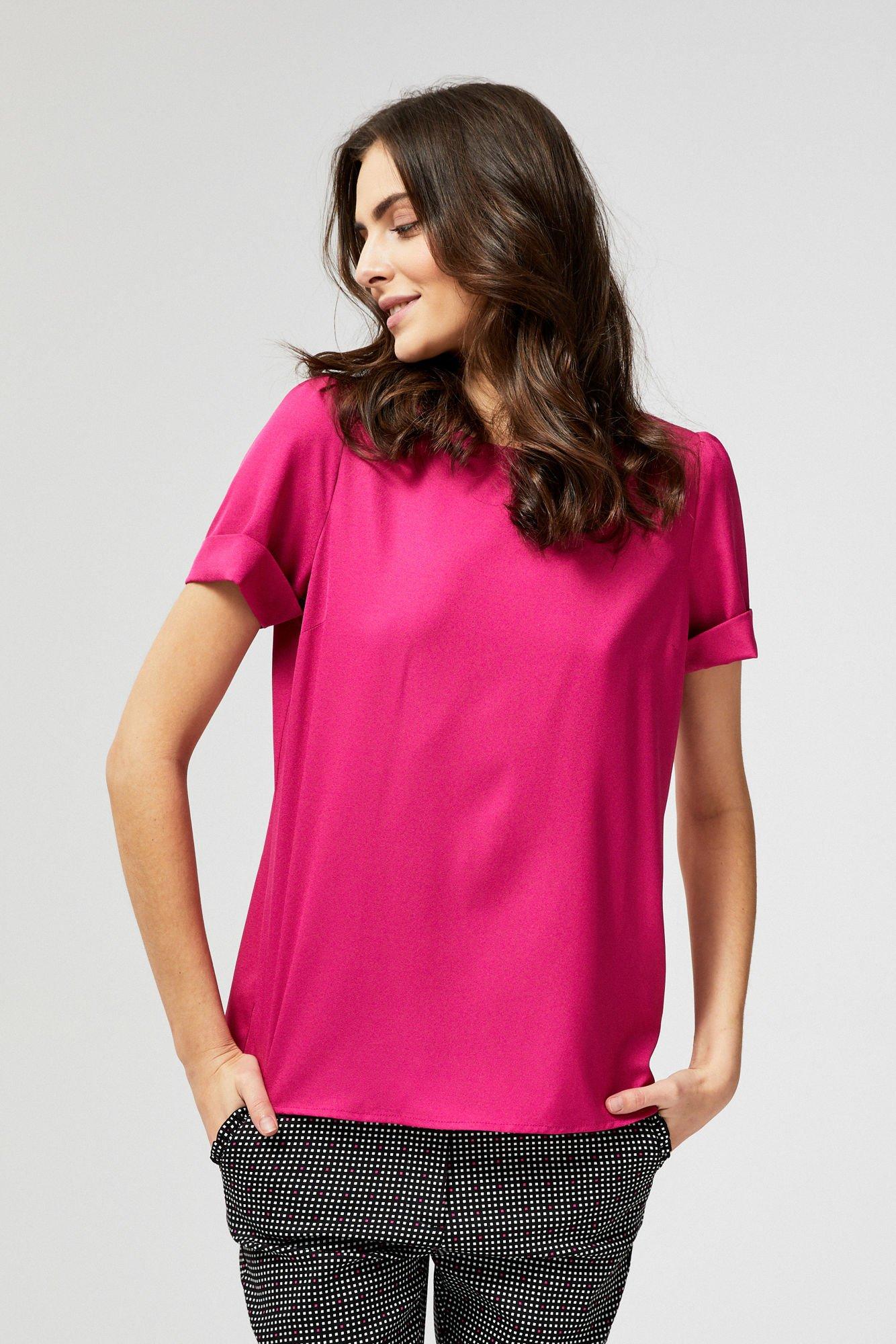 Bluzka koszulowa z imitacją guzików