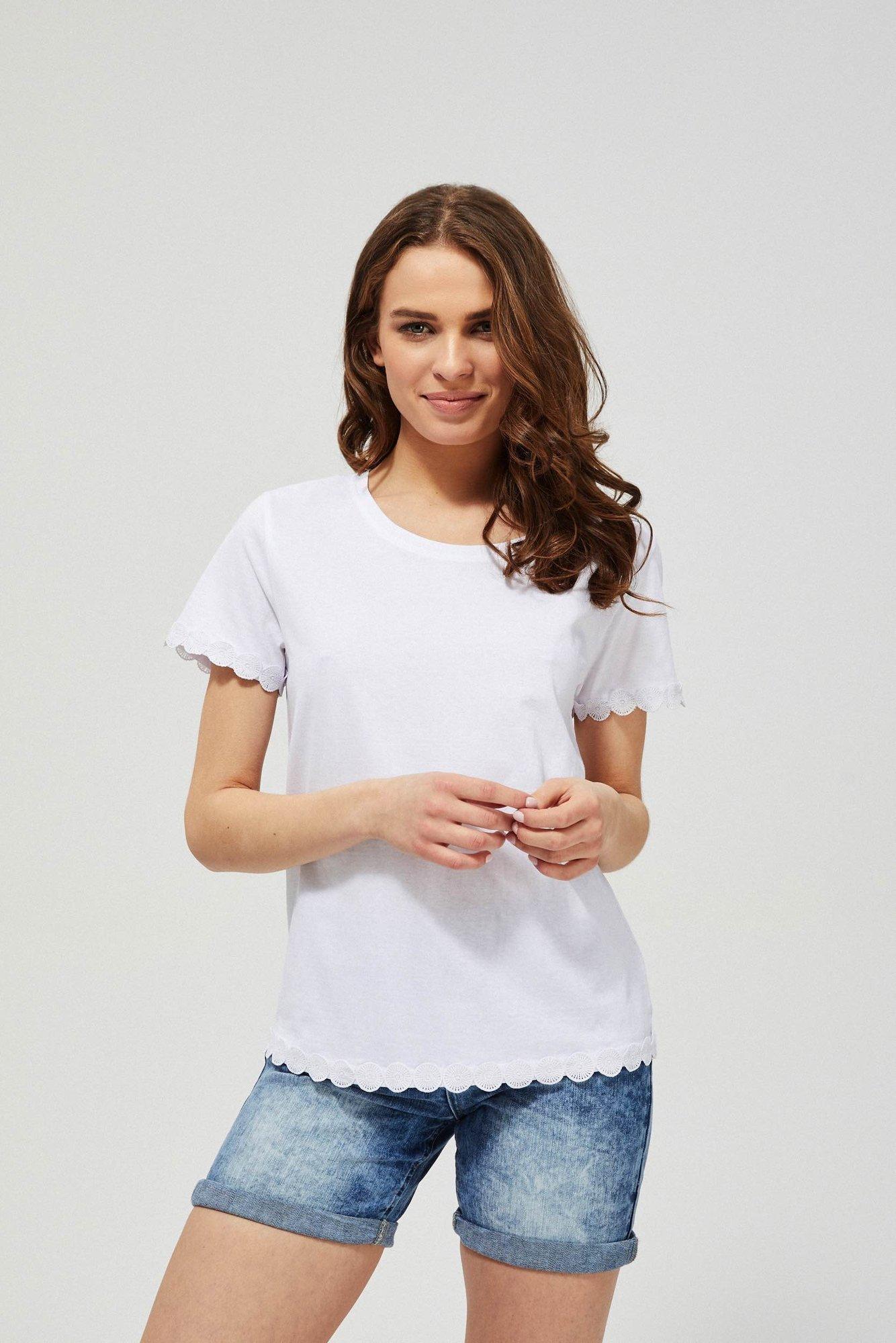 Bluzka bawełniana ze zdobieniem