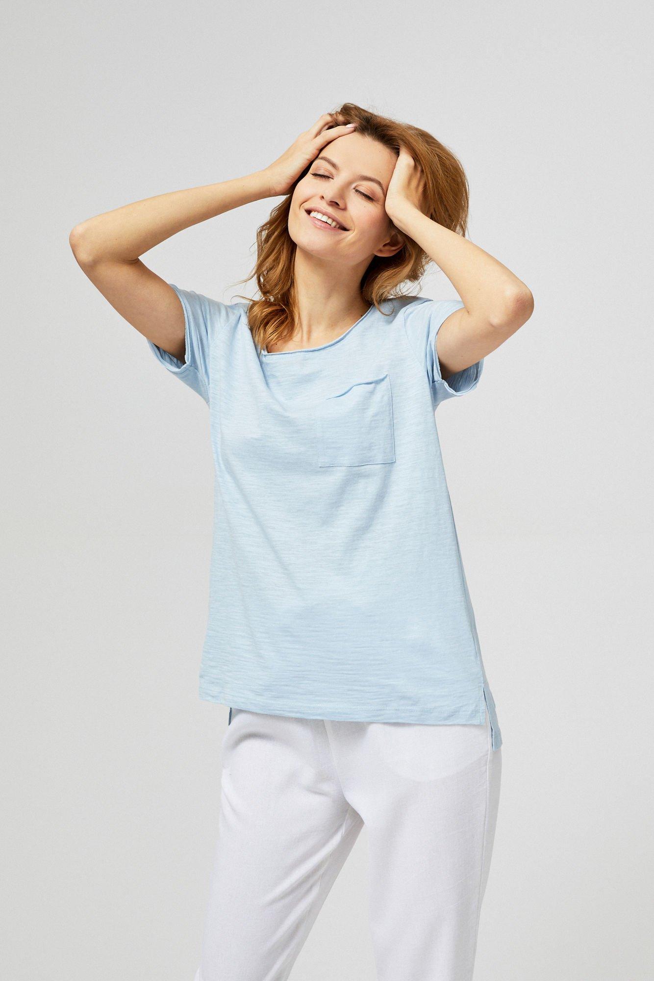 Koszulka bawełniana z kieszonką