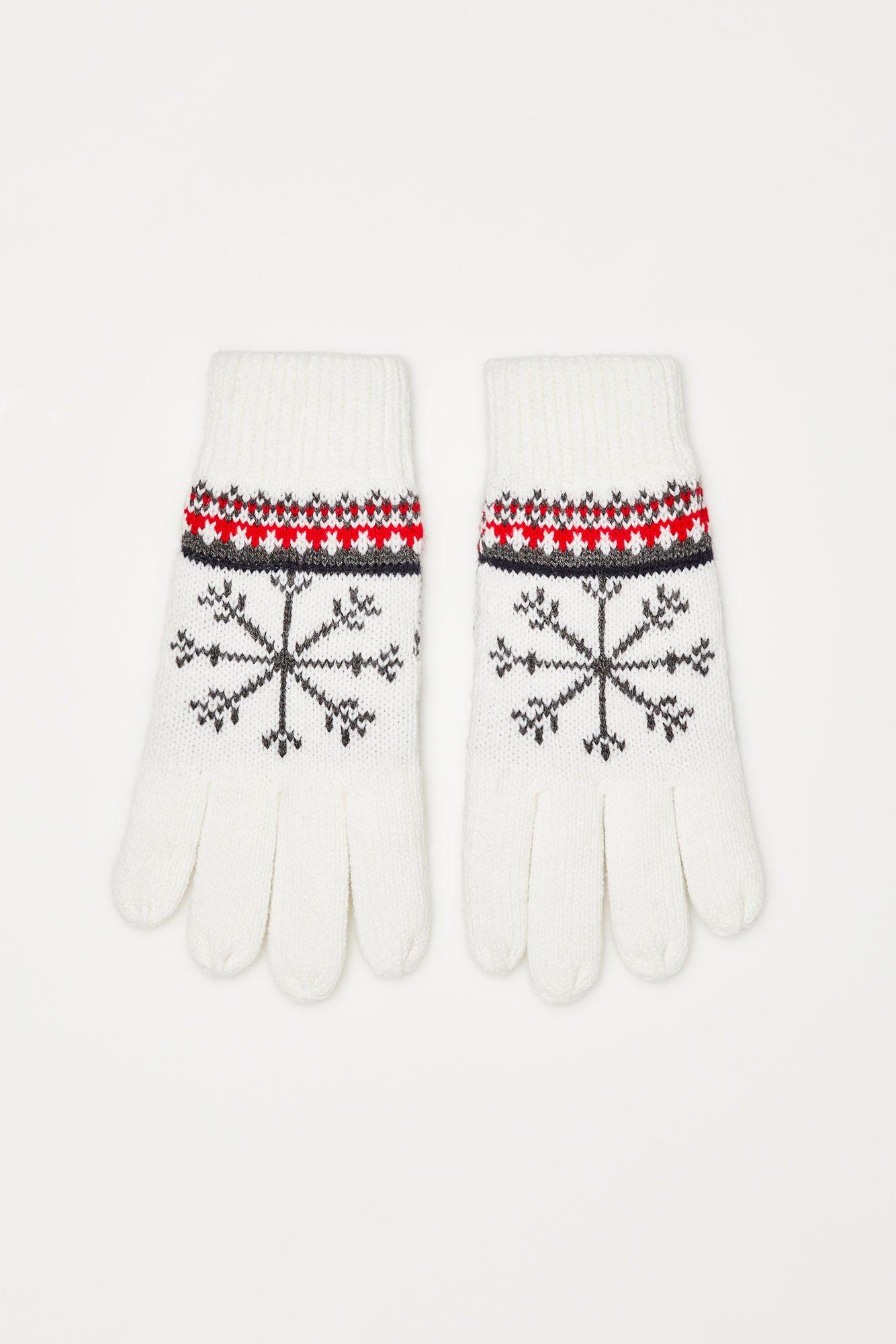 Rękawiczki w zimowy wzór