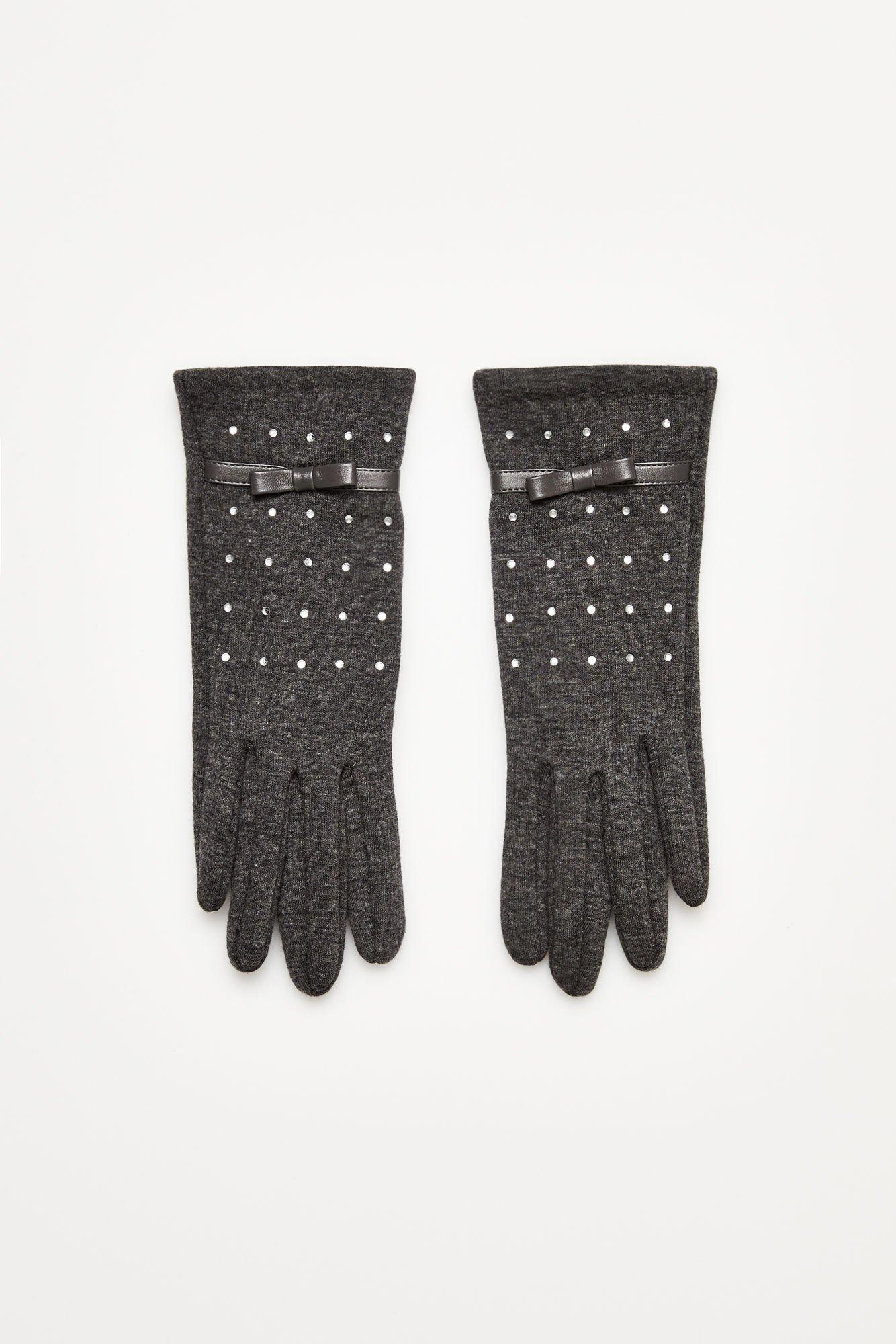 Rękawiczki z błyszczącą aplikacją