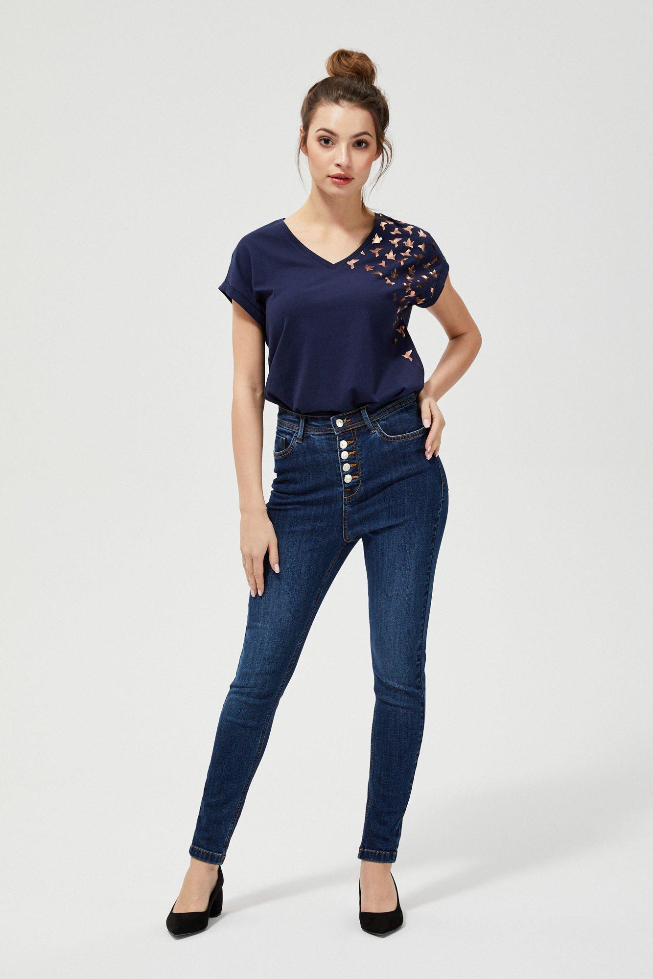 Jeansy high waist