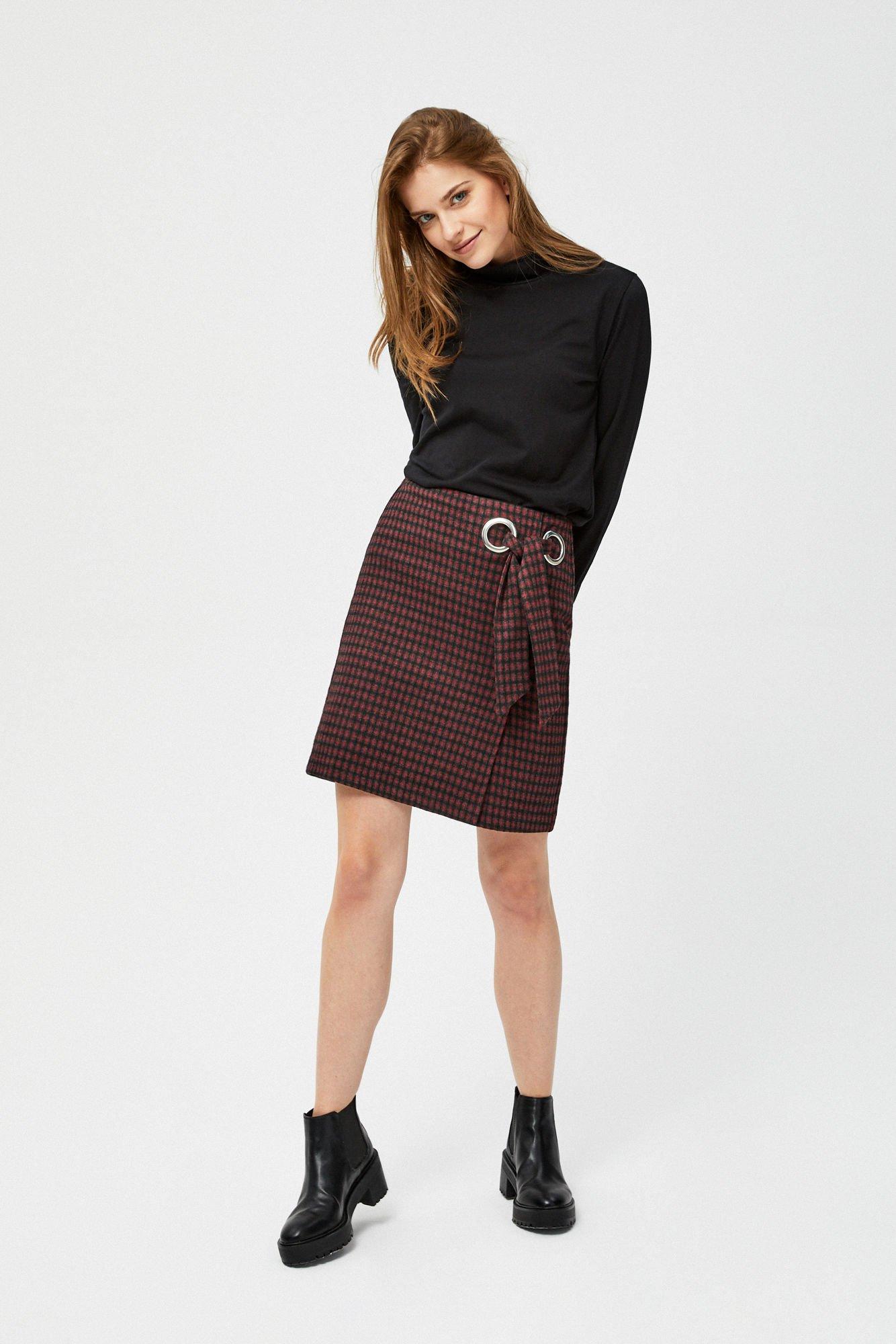 Spódnica mini w kratkę