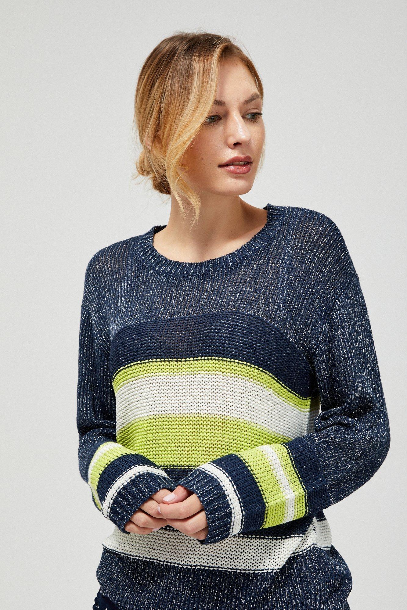 Sweter typu oversize w paski