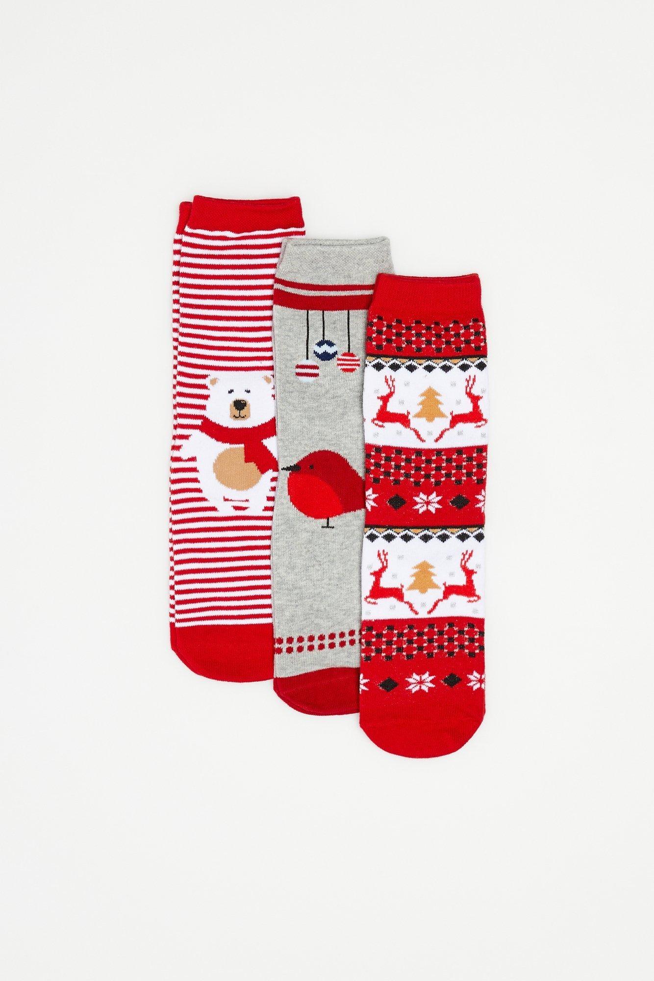 3 pack skarpet świątecznych
