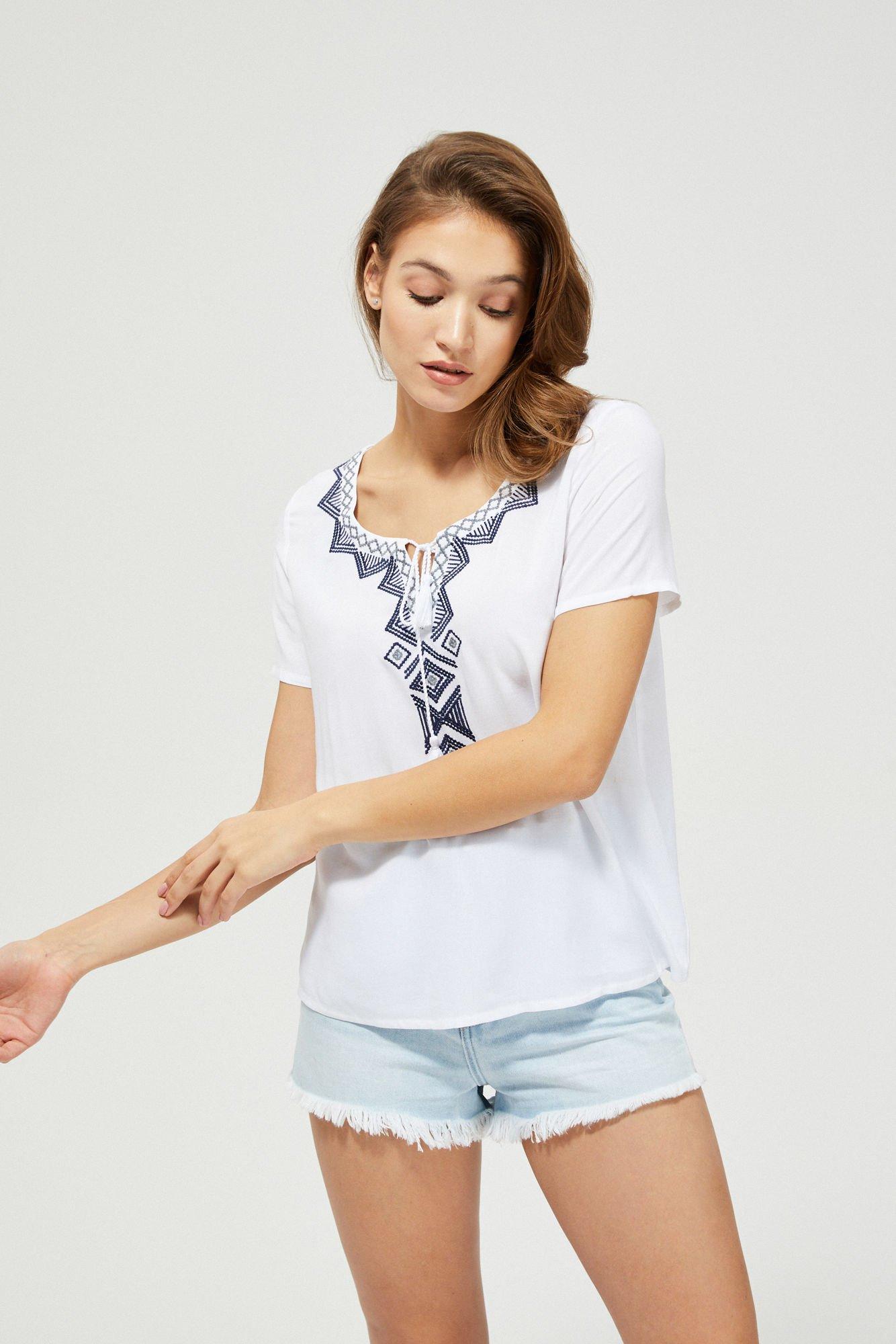 Bluzka koszulowa z azteckim wzorem