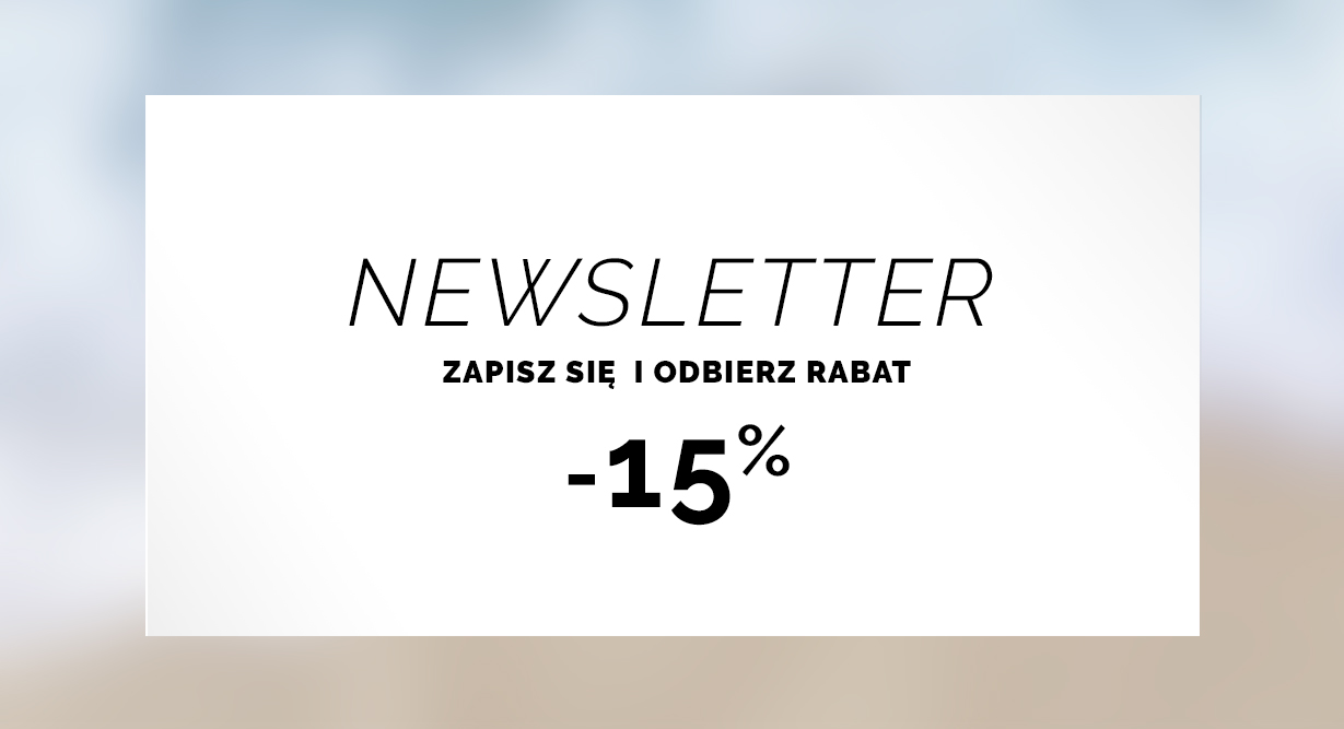 Newsletter rabat  -15%