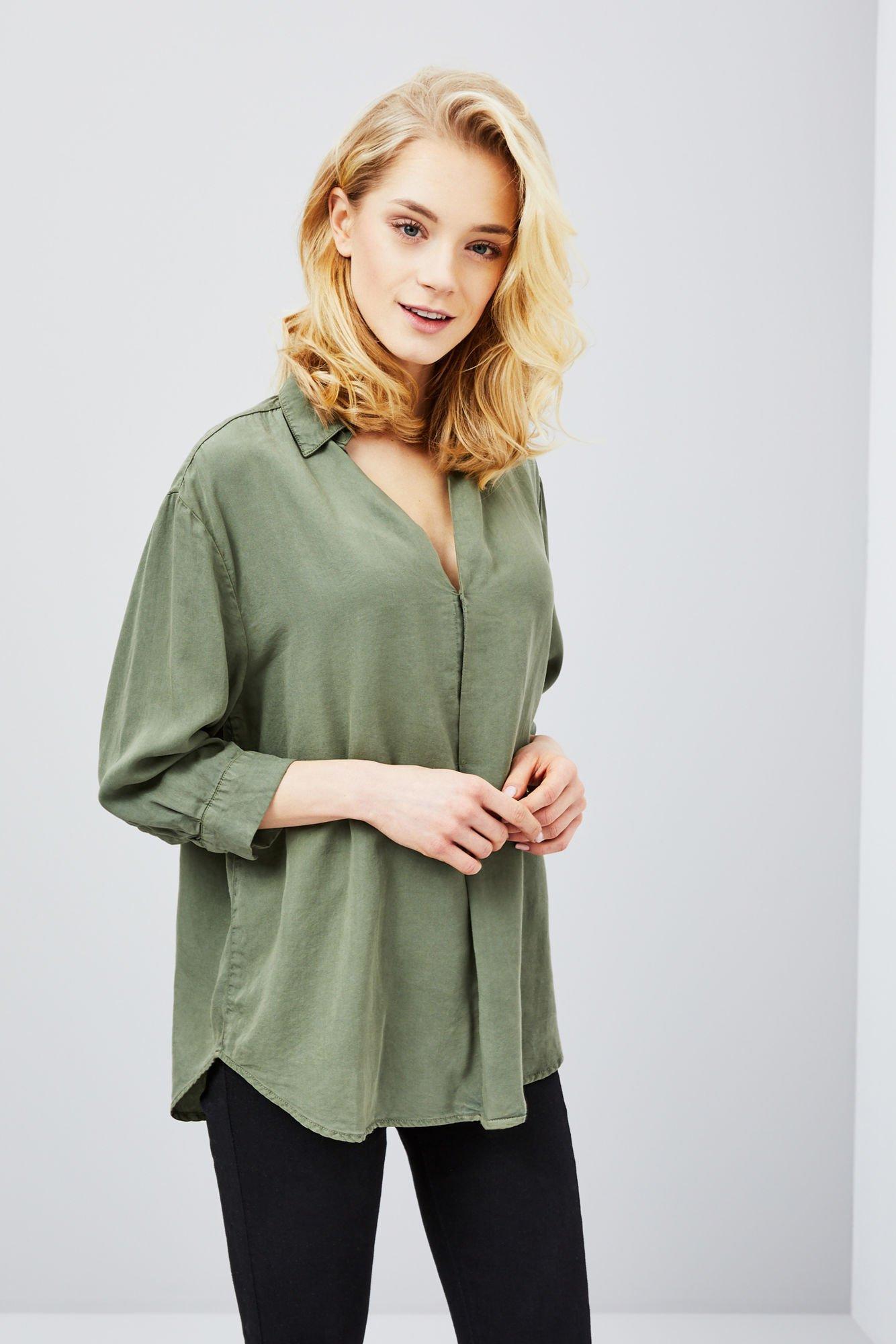 32f32da0899e39 Bluzka koszulowa lyocell - | Moodo