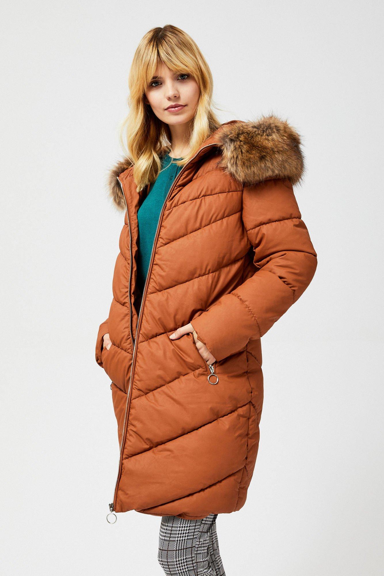 101,99 zł, | Długi płaszcz z imitacji skóry